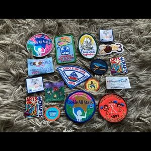 Girl Guide patches crests badges
